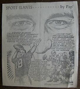 JOHNNY-UNITAS-Circa-1960-Pap-039-Sport-Slants-Baltimore-Colts
