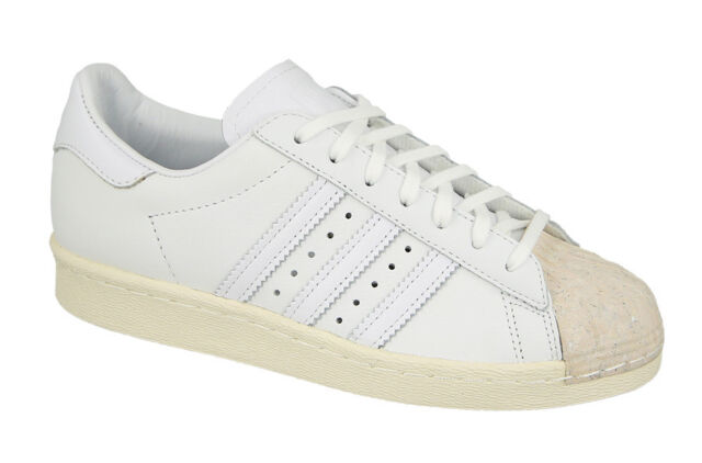 3872b96ed ADIDAS SUPERSTAR 80S CORK LOW SNEAKERS WOMEN SHOES WHITE BY8708 SIZE 7 NEW