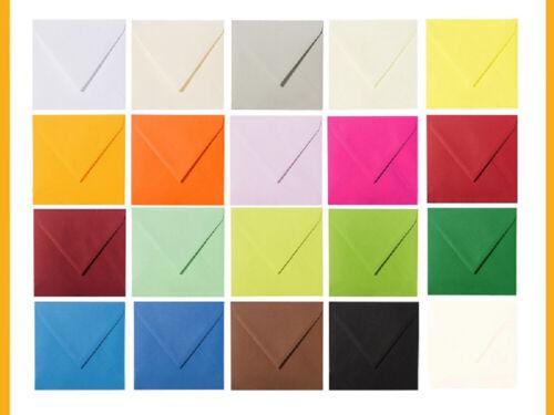25 Briefumschläge Briefhüllen 150 x 150 mm feuchtklebend 120 g//qm