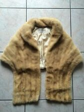LISTER FURS - STOLA IN PELLICCIA DI VISONE CANADESE MIELE VINTAGE - FUR JACKET
