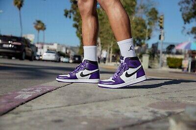 Size 13 - Jordan 1 Retro High OG Court Purple 2.0 2020