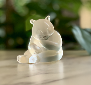 Lalique-Crystal-Panda-Bear-MINT-Signed-Guaranteed-Authentic