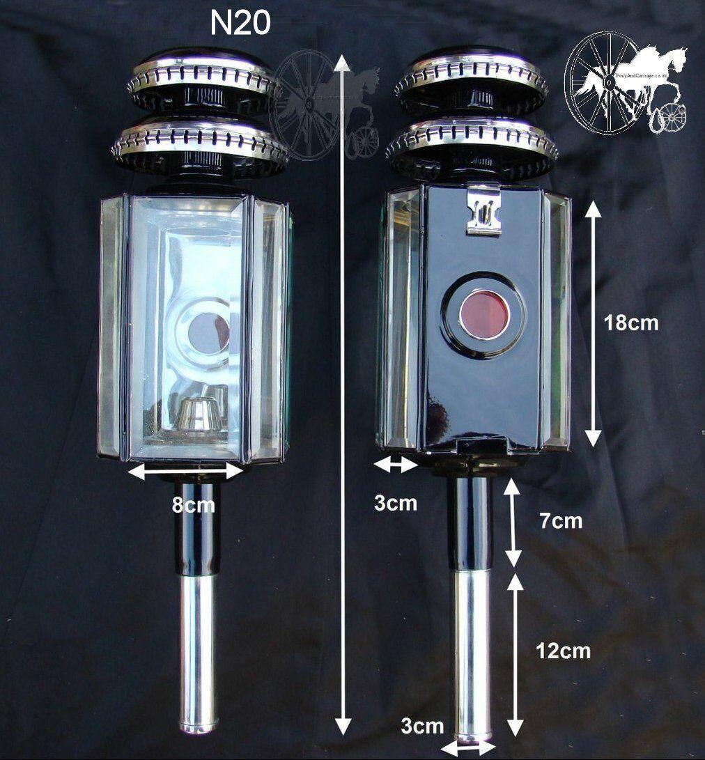 CAVALLO CARROZZA PULLMAN LAMPADE Cob Cavallo Dimensioni ottone o bianca Metal Trim N20 N20A