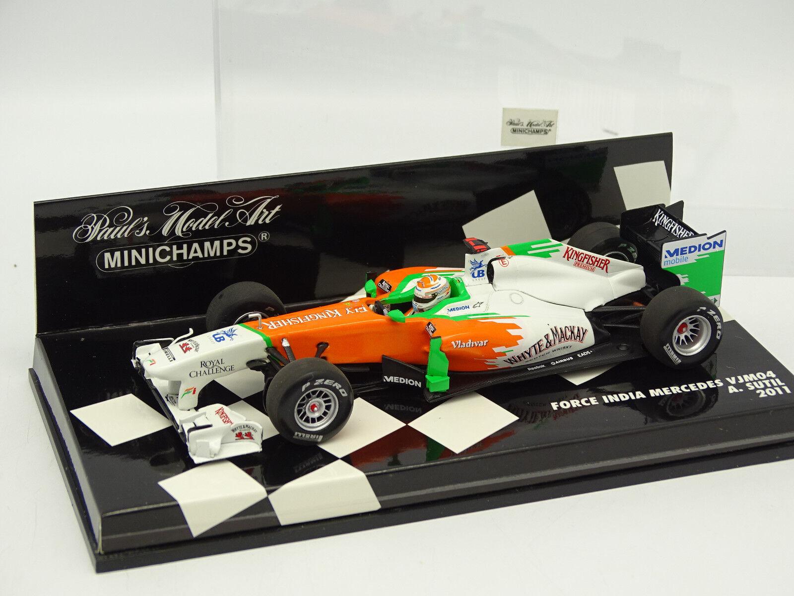 Minichamps 1 43 - F1 Force India Mercedes VJM04 Sutil 2011
