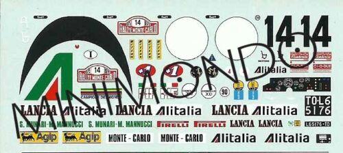 DECALS LANCIA STRATOS ALITALIA WINNER RALLY MONTECARLO 1975 1//43 RACING 43