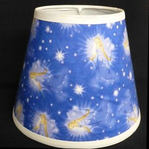 Angel-in-Starry-Sky-Fabric-Custom-Made-Handcrafted-Lamp-Shade-6-x-10-x-8-Kids