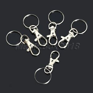 10pcs Swivel Clips Lobster Clasps Trigger Snap Hooks Bag Key Ring Charms Finding 828963839761