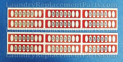 12 PACK GREENWALD SLIDE DECAL $1.25 FOR WASCOMAT IPSO HUEBSCH PART# 00-9104-24