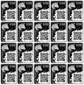 20 x CRYPTO STAMP BLACK / SCHWARZ ★★★★★ ORIGINAL | NEW / NEU | MINT / POSTFRISCH