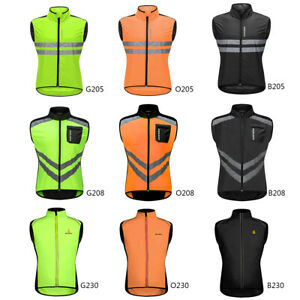 Mens-Reflective-Cycling-Vest-Windproof-Gilet-MTB-Bike-High-Visibility-Waistcoat