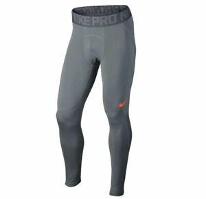 NIKE-Herren-Funktionstights-Pro-Hyperwarm-Gr-M-Laufhose-Pants-Grau-838016-065