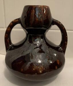 Antique Vintage Brush McCoy Arts And Crafts Hyacinth Bulb Vase 1900s