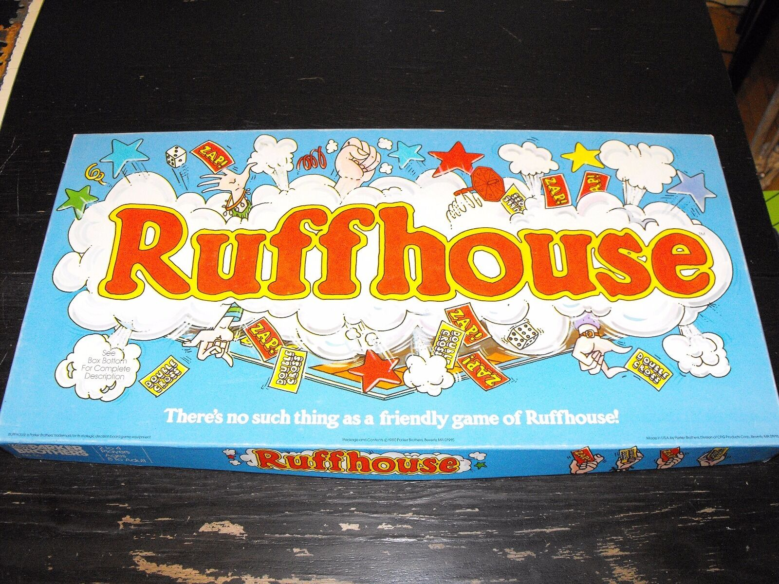 Vintage 1980 Ruffhouse game game game - Parker Brothers Noe. 56 555b89