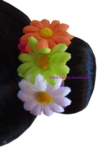 DAISY Fiore Per Capelli Chignon Garland Fascia Floreale Capelli Fascia Corona Elastico Ponio cm