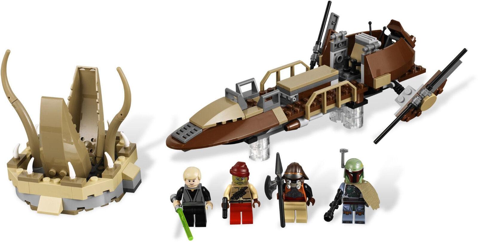Lego 9496 Star Wars Desert Skiff  Sealed Box  4 Minifigs