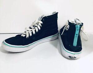 Vans High Top Zipper Back Shoes Black