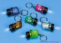 144 Flashlight Bulb - Mini Key Chains - Wholesale Lot ( 12 Dozen )