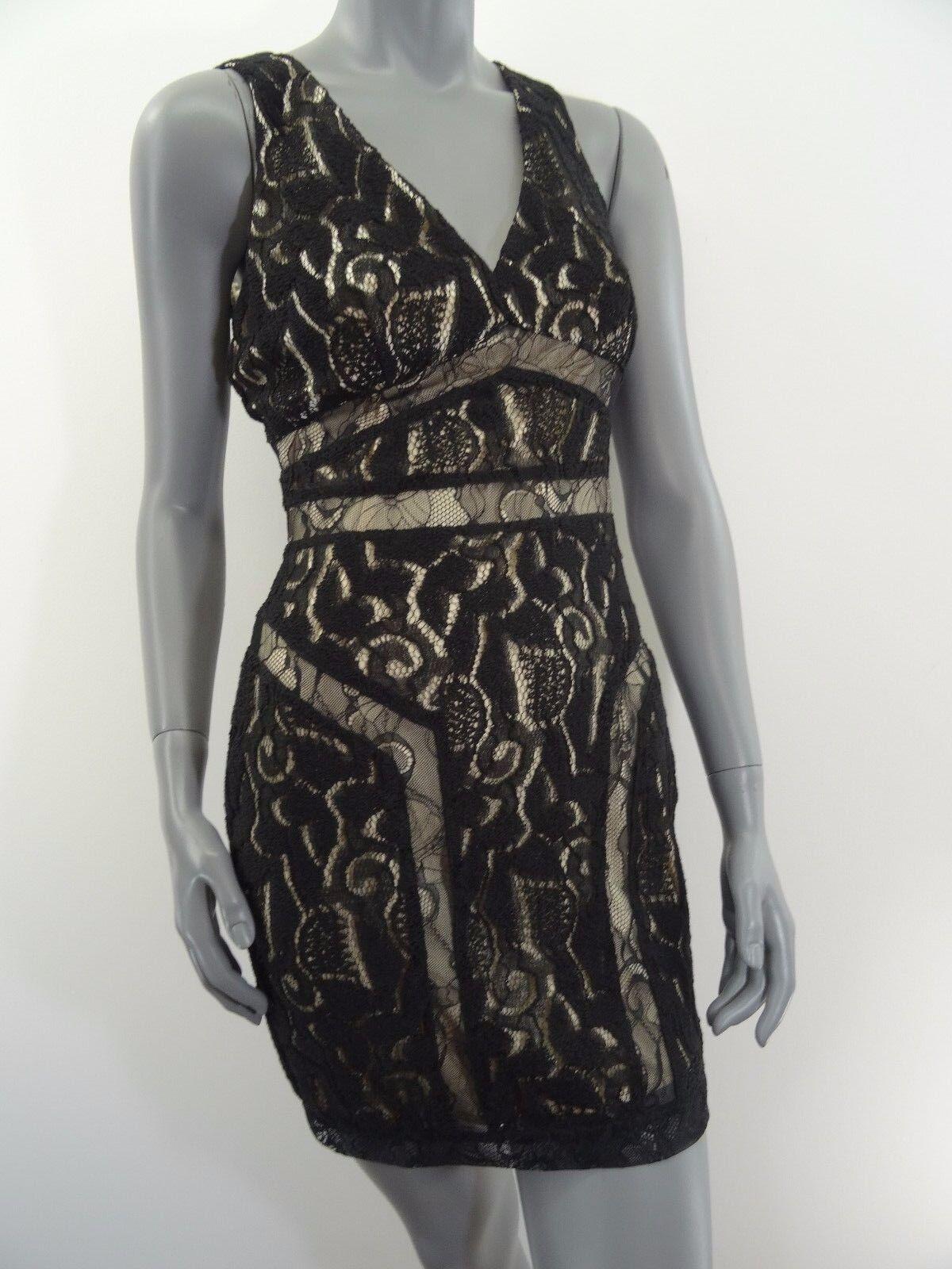 Bebe schwarz Lace Cocktail Dress Größe XS