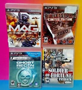 Bulletstorm-Soldier-Fortune-MAG-Ghost-Recon-PS3-Sony-Playstation-3-4-Game-Lot