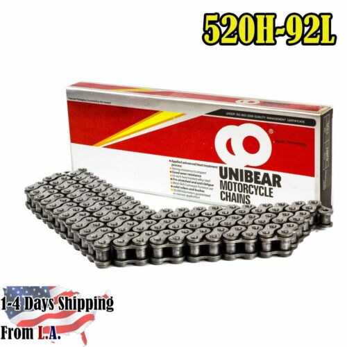 Natural Color 520 Heavy Duty Motorcycle Chain 92 Links with 1 Connecting Link
