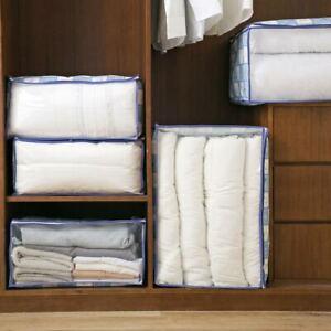 Clothes-Blanket-Quilt-Sweater-Zip-Storage-Bag-Closet-Wardrobe-Organizer-Foldable