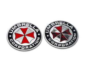2pcs-UMBRELLA-Corporation-Emblem-Auto-Aufkleber-METALL-Resident-Evil-Emblem-3D