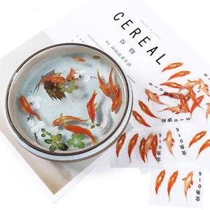 3D Goldfish Lotus Clear Film Resin Fillings Water-Like Painting Jewelry Making