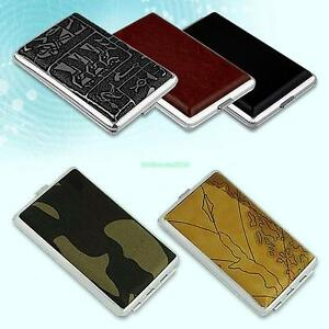 Cigars-Cigarettes-Tobacco-Metal-Case-Holder-Box-Cover-Pouch-Container-MultiColor