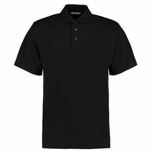 Para-Hombre-Negro-100-Algodon-Jersey-Camisa-Polo-KK402-Kustom-Kit-S-M-XL-XXL