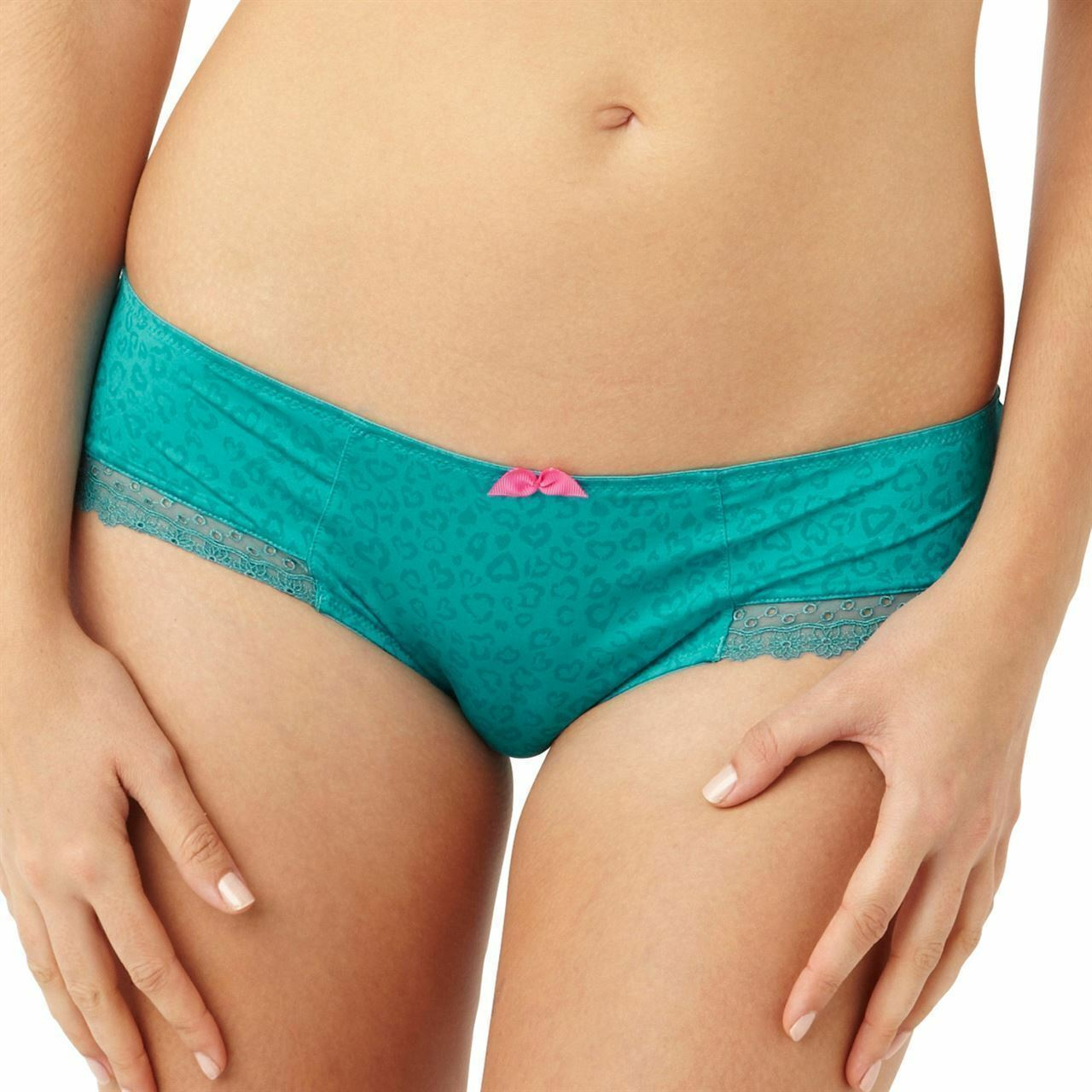 Brand New Cleo by Panache Juna Brief Teal Green Animal Print 7732 VARIOUS SIZES