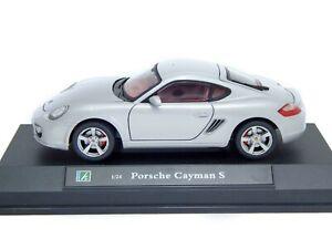 Porsche-Cayman-S-Boxster-987-Silver-Cararama-1-24-Model-Car