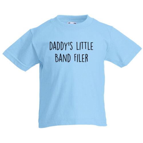 Daddys Little Band Filer Personalizzata Bambino 1-15yrs Kids T Shirt Padri giorno