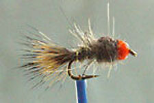 1 x Mouche  peche Nymphe Lievre BILLE ORANGE H10/12/14/16/18/20 fly fishing