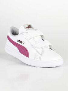 Dettagli su Smash V2 L V PS sneakers basse bianche e rosa bambina