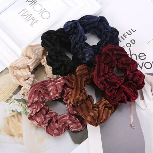 5pcs Women Flower Elastic Hair Band Rope Scrunchie Ponytail Fashion Multicolo sp