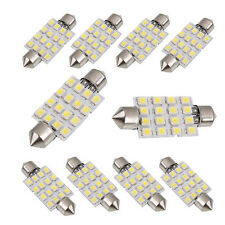 10x Sofitte Soffitte C5W 42mm 16 SMD LED Innenraum Beleuchtung Lampe Lichts Weiß