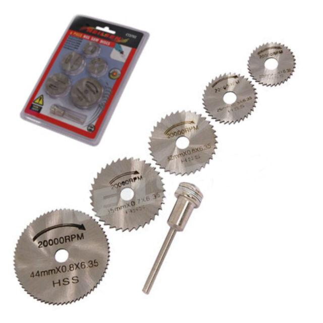 Neilsen HSS Saw Discs Mandrill 22mm - 44mm Rotary Type Tools 6mm Bore    6C