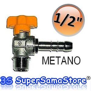 3s rubinetto a squadra per gas metano 1 2 portagomma for Rubinetto gas piano cottura