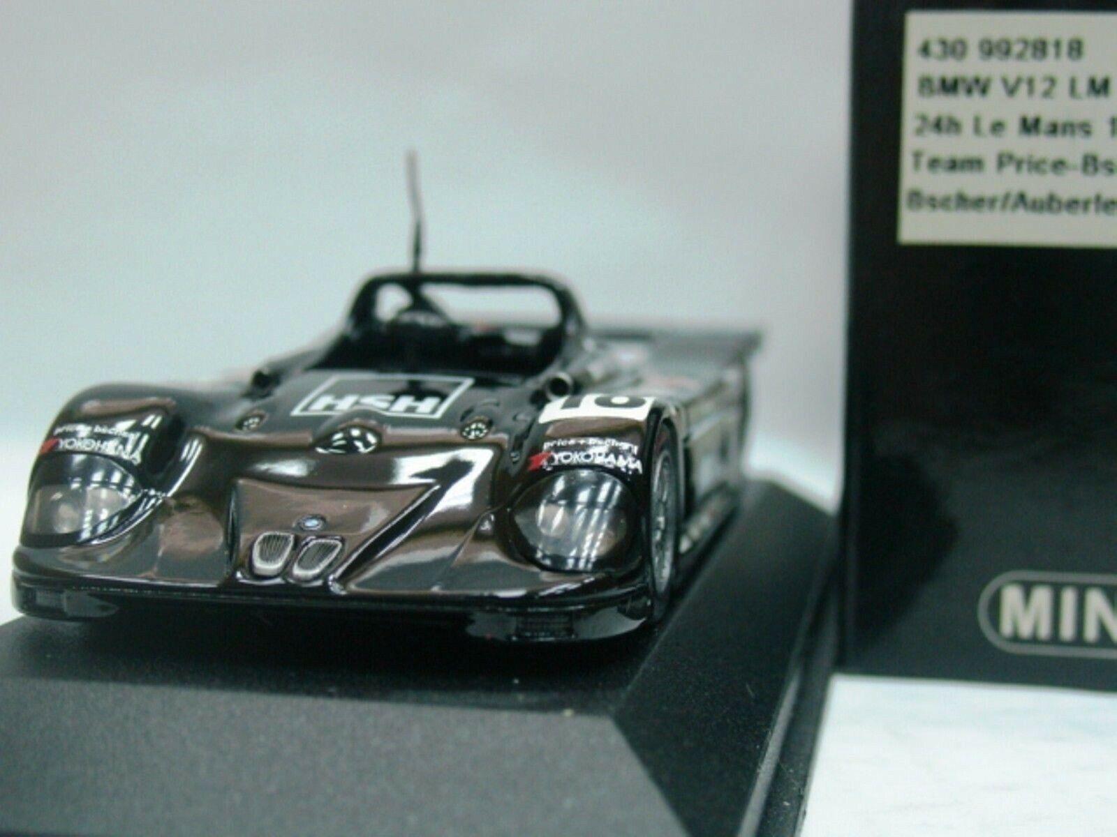 Wow extrêmement rare BMW V12 LM  18 Bscher 1st Priv le mans 1999 1 43 Minichamps