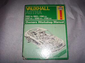 Haynes Workshop Manual Vauxhall Astra 1980 - 1983-afficher Le Titre D'origine Ay4mxppl-07225435-270562361