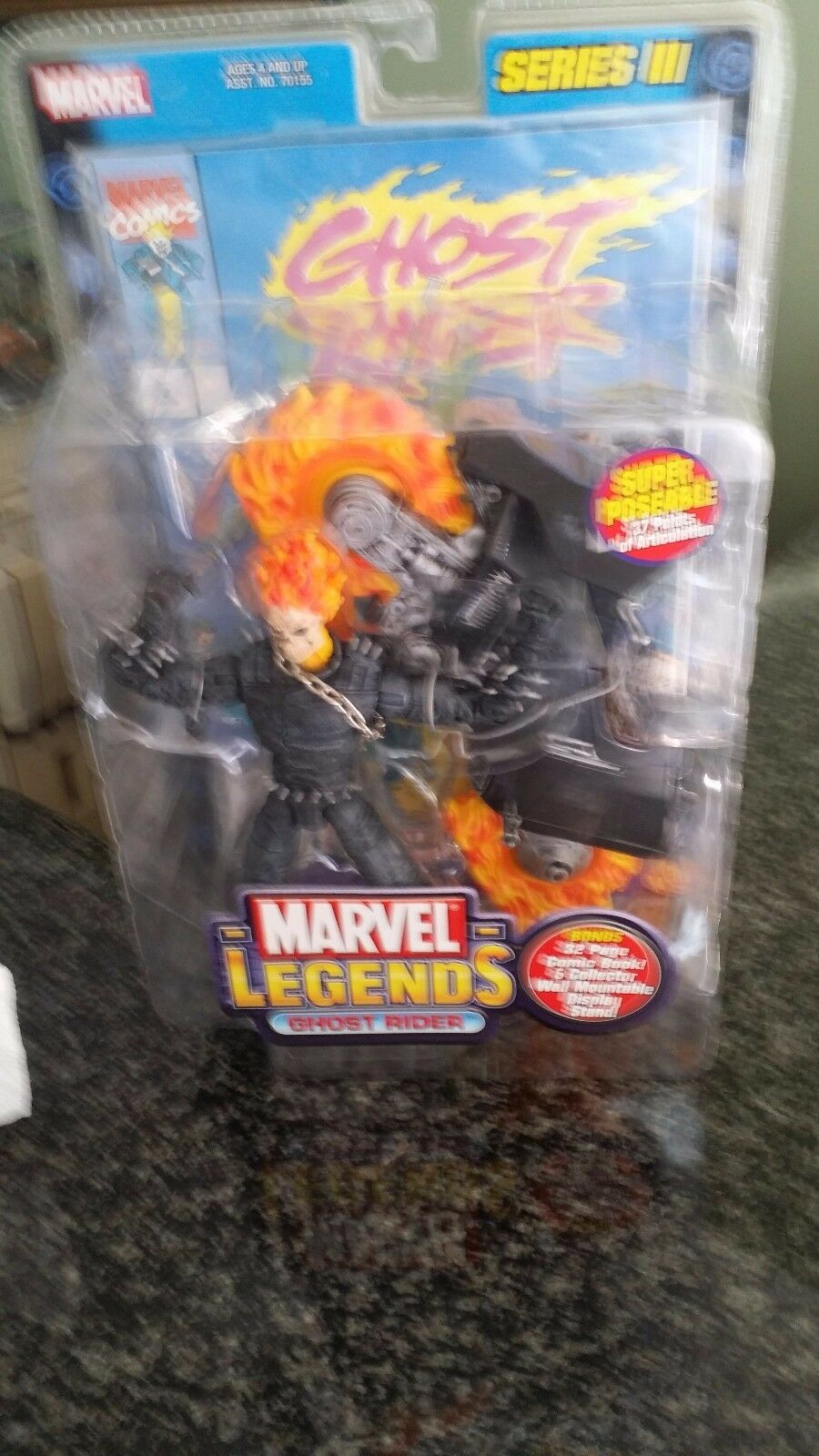 MARVEL LEGENDS GHOST RIDER SERIES III. BONUS BONUS BONUS 32 PAGE COMIC BOOK & WALL MOUNT ST 750378