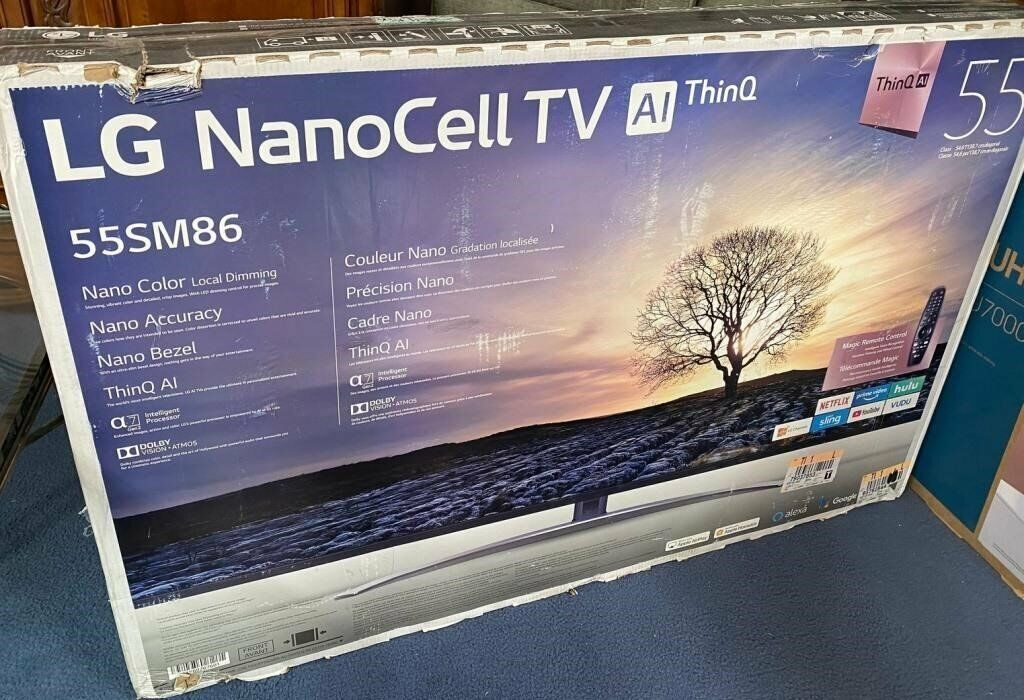 LG NANO CELL AI Thin Q 55 TV 55SM8600PUA 4K Smart TV New in Box . Available Now for 699.99