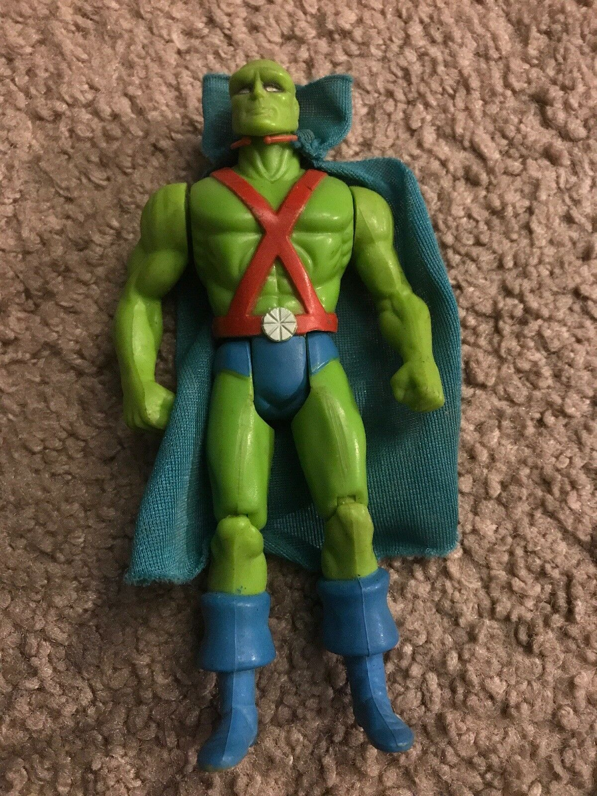 Vintage DC 1985 Kenner Super Powers Martian Manhunter Cape Action works great