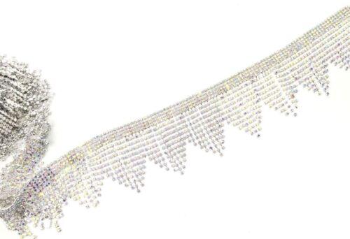 11/'/'Rhinestone Boarder Chain Tassels Trims Diamante Sewing Applique Fringe Edgin