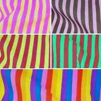 16mm Funky Candy Stripes Polycotton Dress Fabric