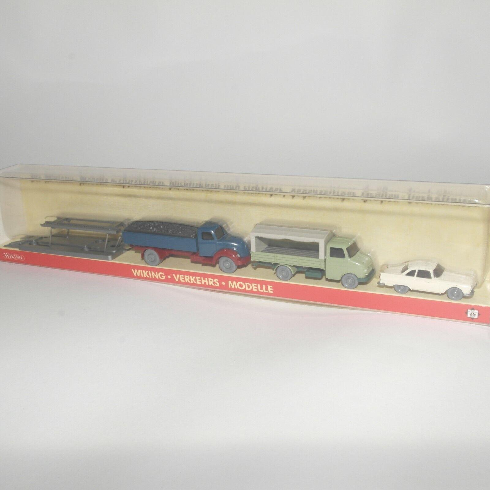 Wiking 1 87 191095 PMS Transports modèles édition Nº 27 trois véhicules neuf dans sa boîte (ec8977)