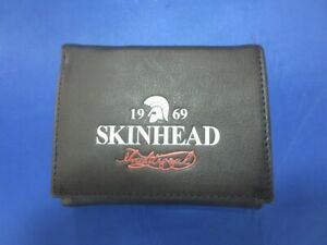 1969-Skinhead-traditional-real-leather-wallet-Geldboerse-echt-Leder-mit-Kette