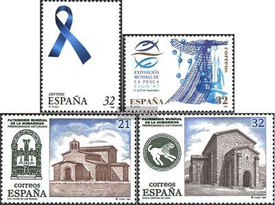 kompl.ausg. Spanien 3343,3346,3350-3351 Postfrisch 1997 Sondermarken GläNzende OberfläChe