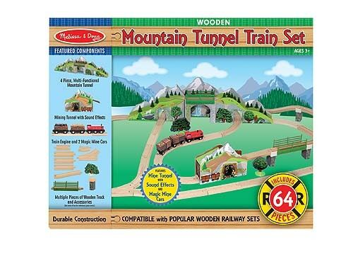 Melissa and Doug Mountain Tunnel Wooden Train Set Set Set Pieces New Sealed 20c6c4