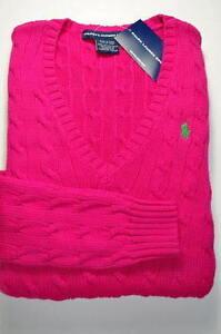 Polo Ralph Lauren Women Ladies Pink Jumper Sweater